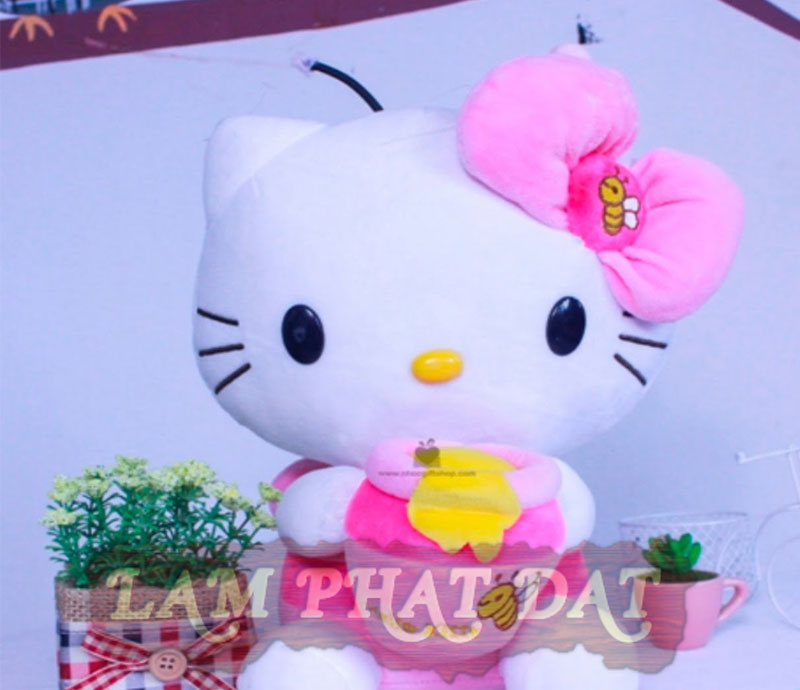 Gấu bông Hello Kitty ong