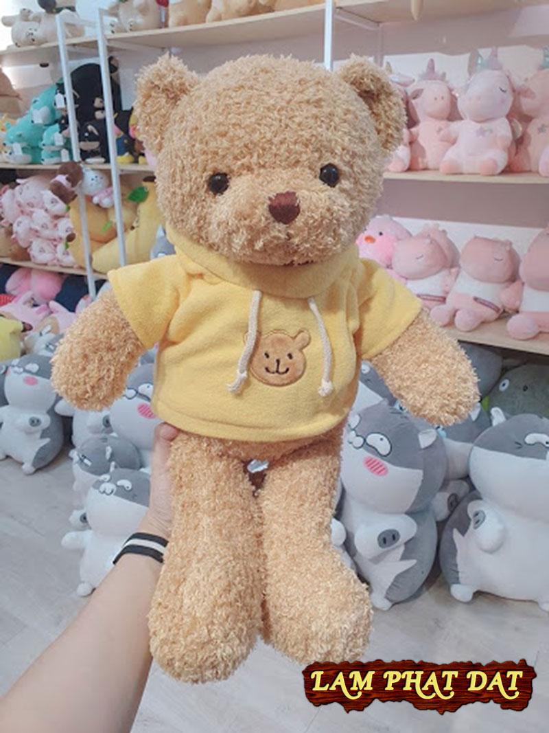 Gấu Bông Teddy Lông Xù Mặc Áo Hoodie